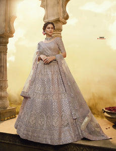 Fawn Color Embroidered Beautiful Lehenga Choli Online Shopping