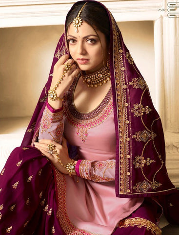 Drashti Dhami Pink Sharara Suits Pakistani Shalwar Kameez Design