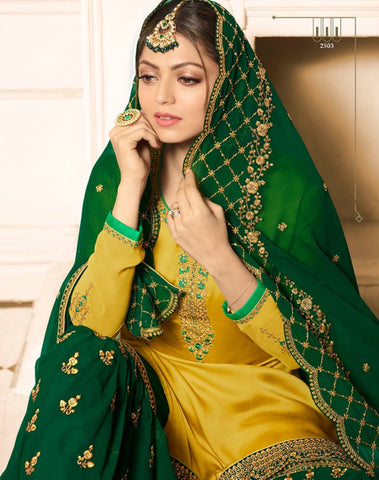 Drashti Dhami Yellow Sharara New Pakistani Shalwar Kameez Dresses