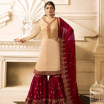 Drashti Dhami Light Peach  Sharara Latest Designer Suits For Women