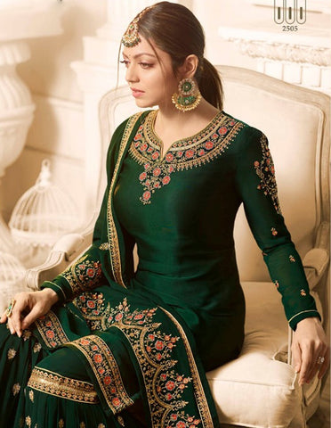 Drashti Dhami Dark Green Sharara Beautiful Salwar Suits Online