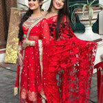 Lovely Red Net Latest Design Online Shopping For Bollywood Sarees