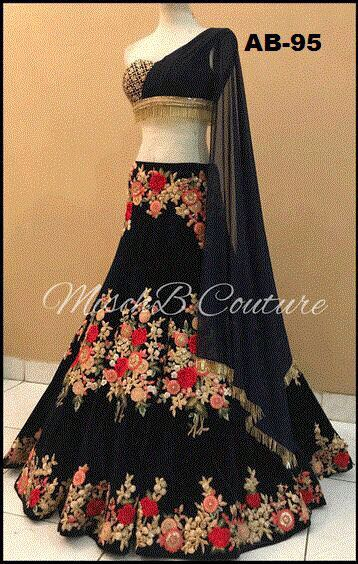 Black Bollywood Party Wear Lehenga Choli Online