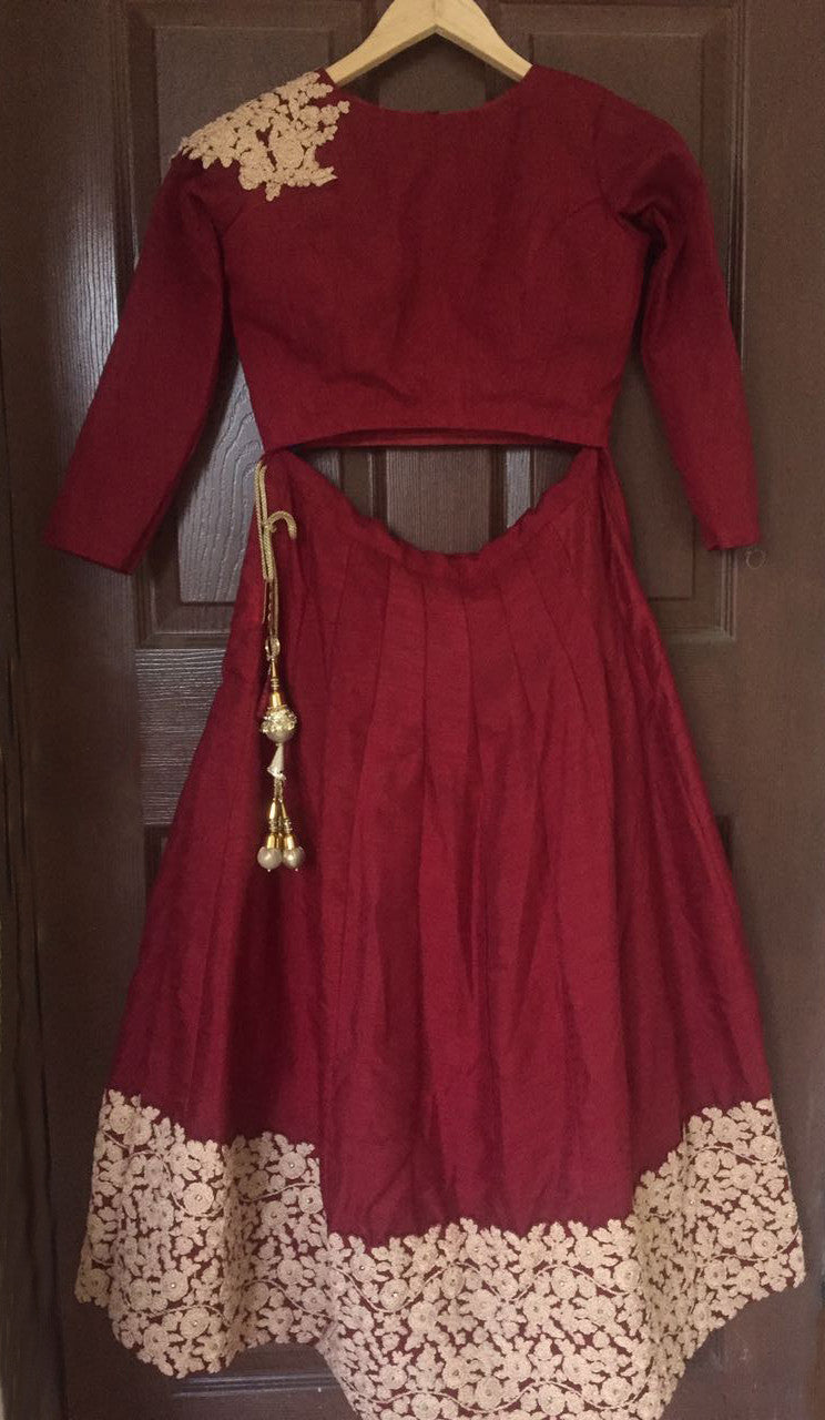 Elegant Maroon Banglori Bollywood New Indian Lehenga Designs ,Indian Dresses - 2