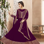 Purple Georgette Abaya Party Wear Anarkali Dress Online India