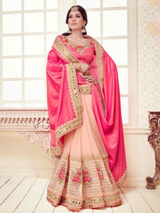 Charming Pink And Peach Latest Sarees And Prices