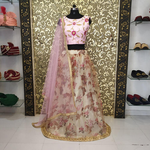 Chiku Floral Print New Fashion Party Lehenga Choli Online