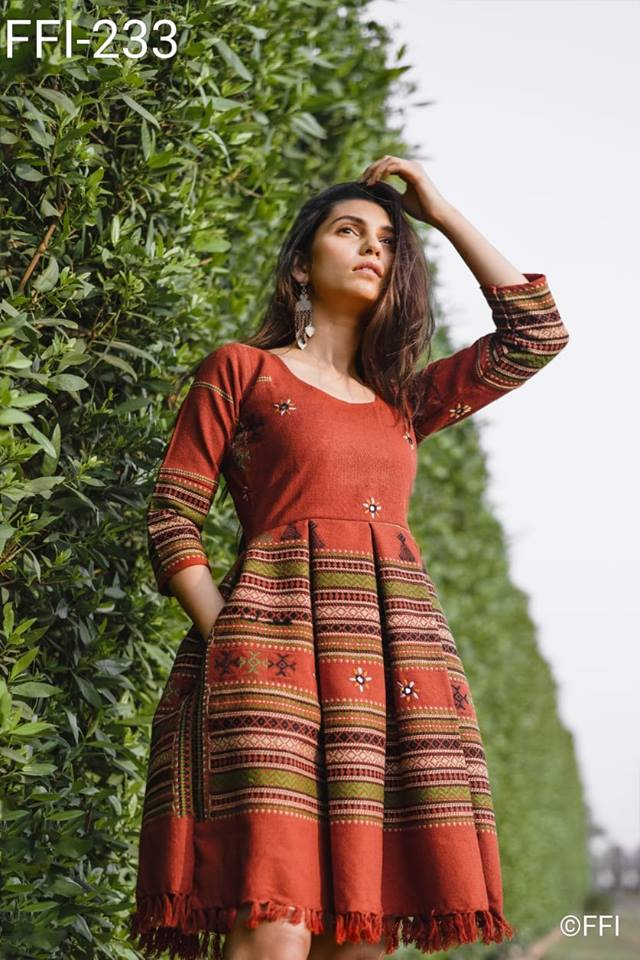 Woolen Kurtis Online XS to XXL at 45 USD