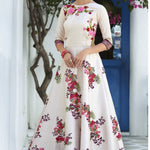Off White Digital Printed Latest Lehenga Blouse With Price