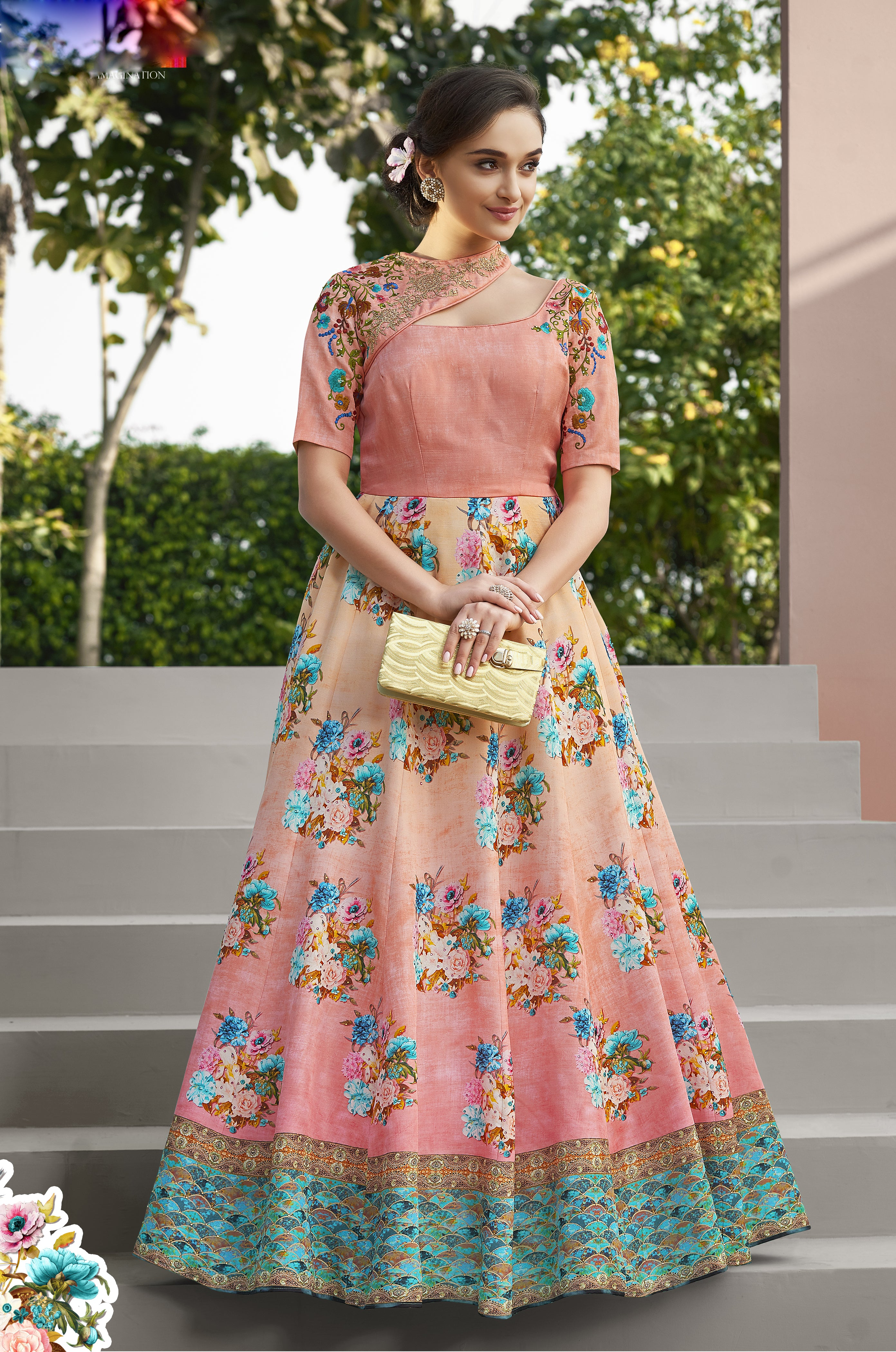 Light Pink And Beige Ombre Latest Lehenga Designs For Wedding With Price