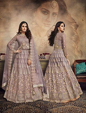 Rosy Brown Net Embroidered Indian Wedding Lehenga Choli Online