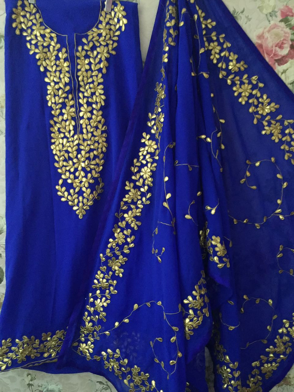 Blue Georgette Gotta Patti Bollywood  Salwar Dress