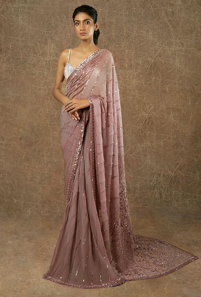 Sequin Georgette saree with blouse