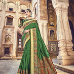 Dark Green Banarasi Silk Online Shopping For Womens Sarees