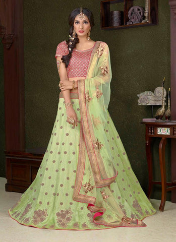 Pistachio Green Online Shopping Of Lehenga In India