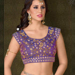 Purple Net Designer Lehenga Choli With Price