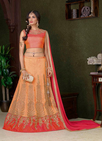 Apricot Chaniya Choli Online Shopping India