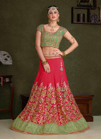 Crimson Red Lehenga Suit Online Shopping