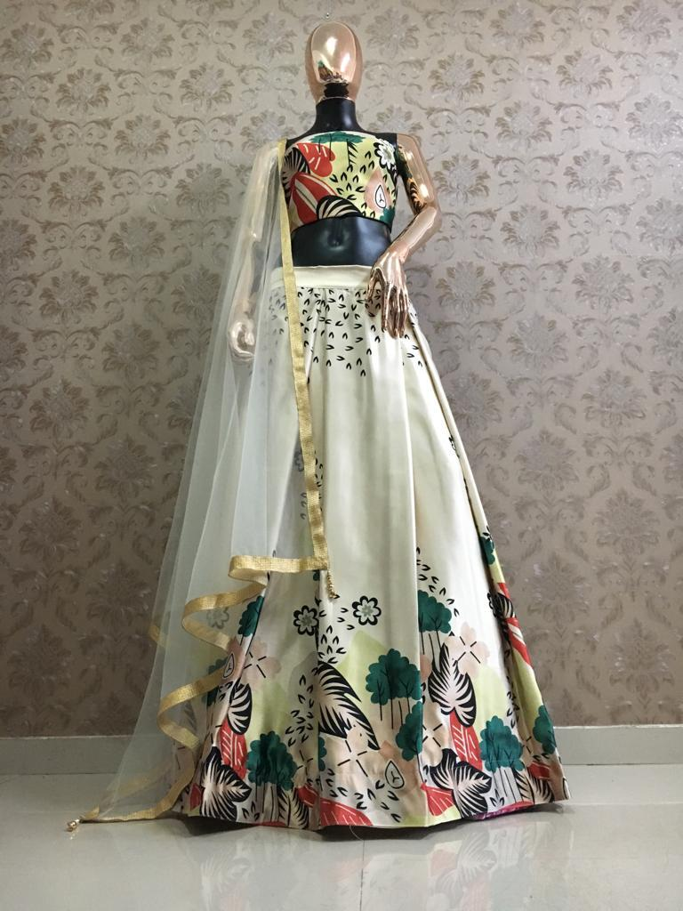 Shraddha Kapoor Digital Printed Box Pleat Lehenga Blouse Online
