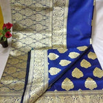 Elegant Blue  Banarasi Silk  Beautiful Saree Online Shopping