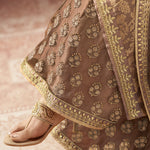 Drashti Dhami Dusty Brown Jacquard Indian Salwars Online Shopping