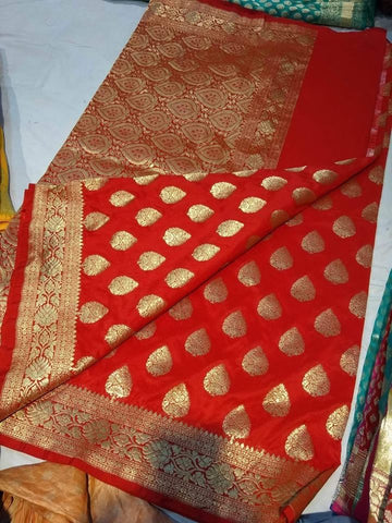 Anushka Sharma Red Banarasi Silk Saree in Multiple colors