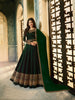 Green Satin Georgette Online Shopping Anarkali Suits India