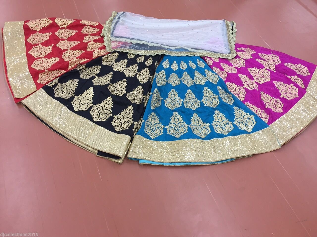 Pink And Gold Bollywood Replica Lehengas Online ,Indian Dresses - 3