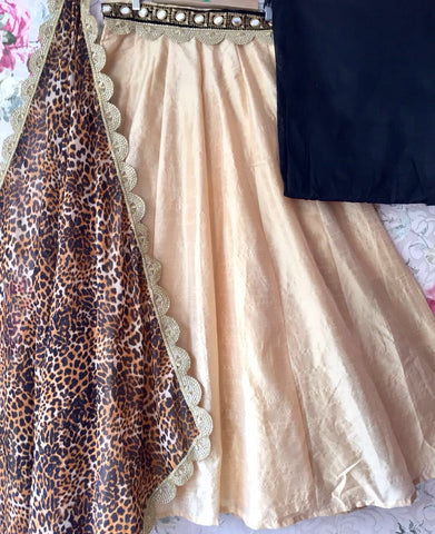 Beige Raw Silk Buy Bollywood Lehengas Online