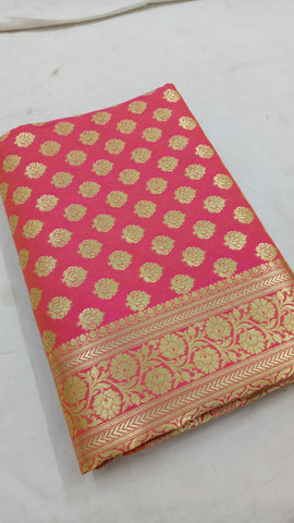Peach Banarasi Silk Sarees Buy Indian Clothes Online