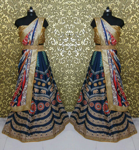 Hazel Keech Printed Indian Designer Lehenga Choli ,Indian Dresses - 2