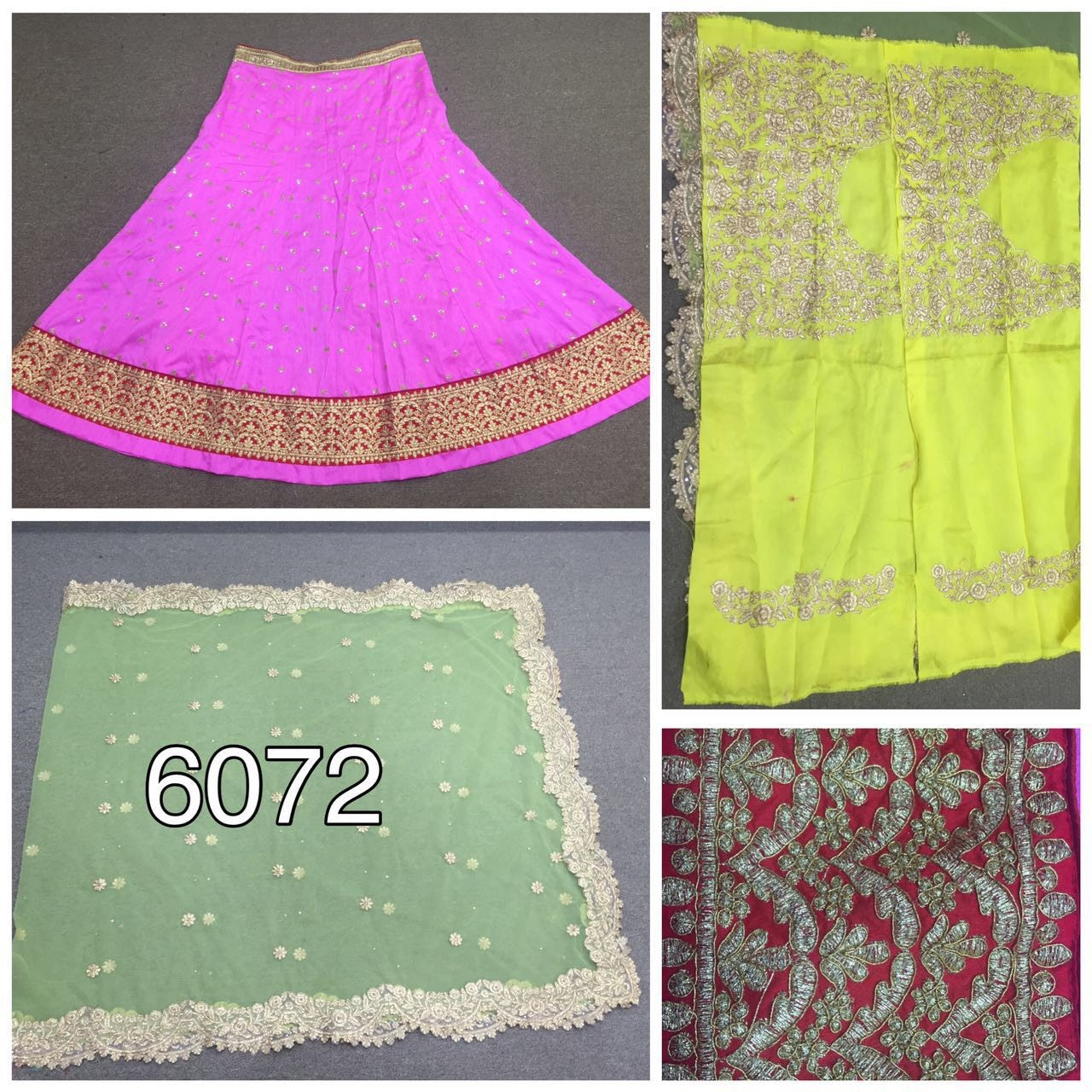 Pink and Pistachio Green Lengha Choli Fashion Dress ,Indian Dresses - 2