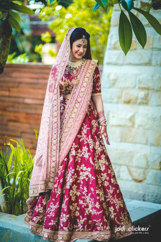 Pink Lehenga Choli Designs For Wedding With Price