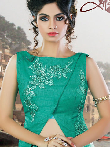 Ultra-Modern Soft Blue Net Designer Lehengas Buy Online ,Indian Dresses - 2