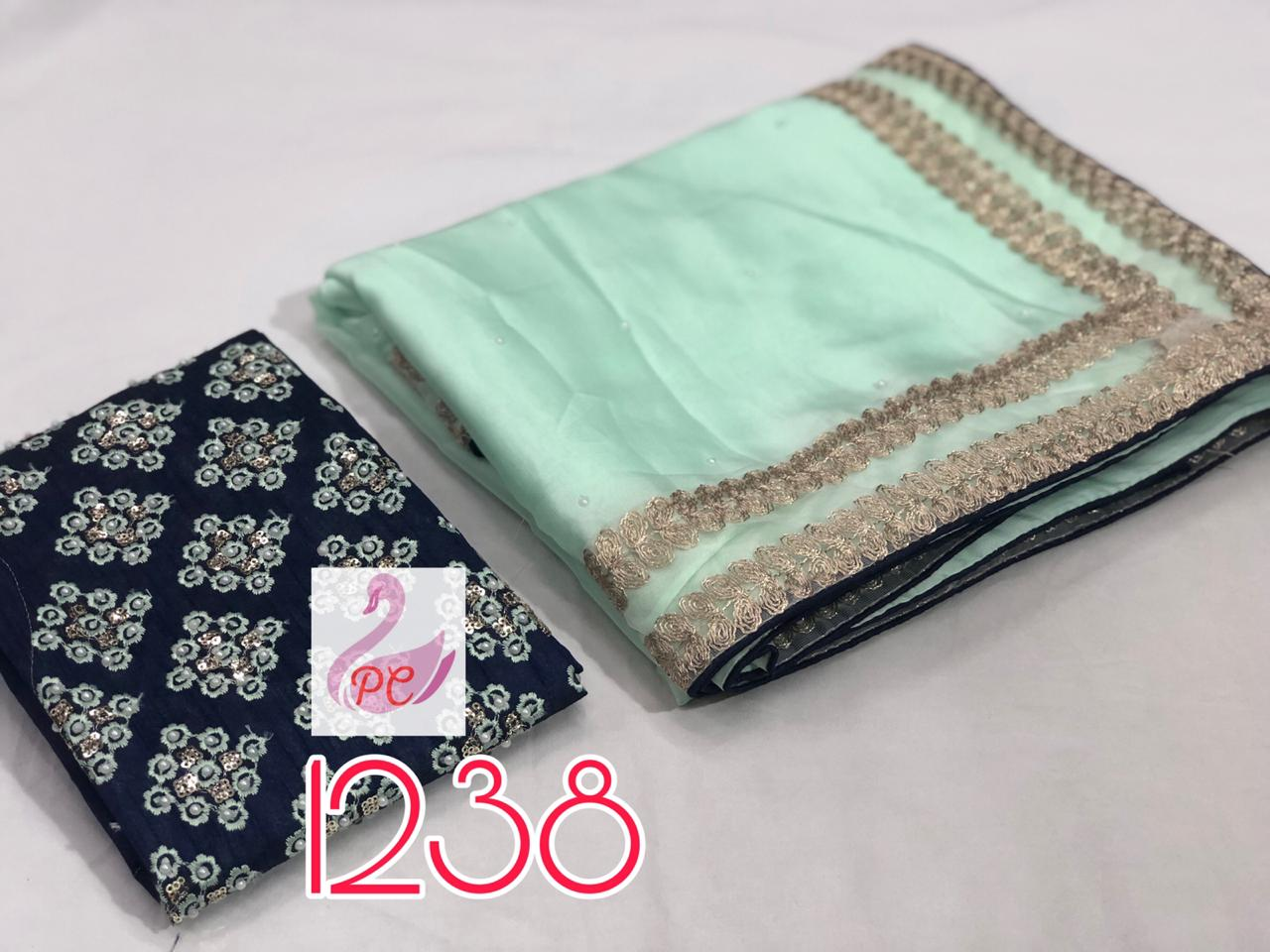 Light Mint Green Crepe Womens Sarees Online Shopping Sites