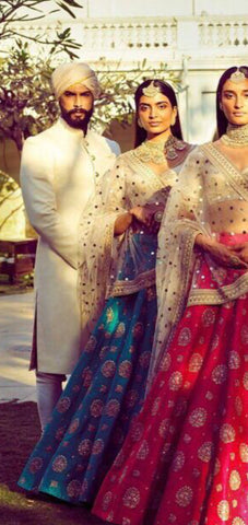 Teal Blue Lehenga Choli Wedding Dresses Online India