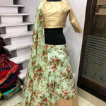 Light Sea Green Floral Print Lehenga Choli Online Shopping Low Price