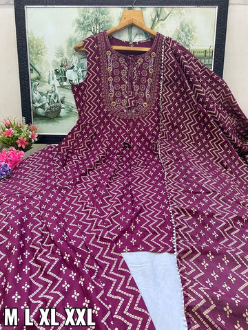 Purple Georgette Fancy Anarkali Indian Latest Designer Salwar Kameez