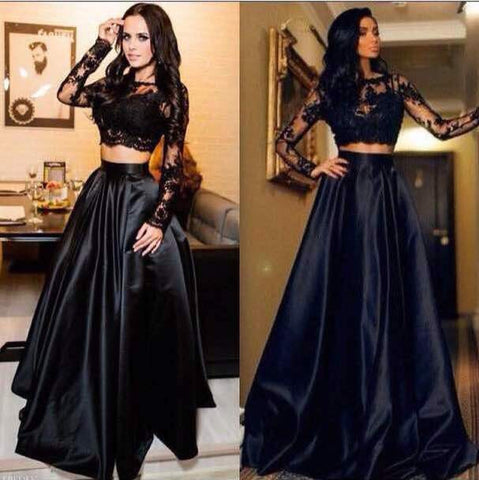 New Indian Lehenga Designs Black Satin Crop Top Skirt