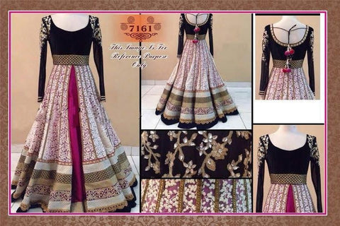 Long Elegant Bollywood Anarkali Suit Online ,Indian Dresses - 1