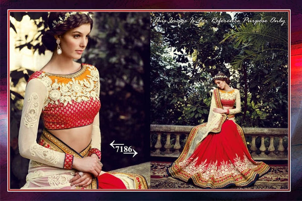 Elegant Red Georgette and Net Bollywood Sarees Online ,Indian Dresses - 1