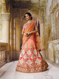 Pink Crystal Stones Bridal Lehenga Designs Online Shopping ,Indian Dresses - 1