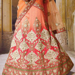 Pink Crystal Stones Bridal Lehenga Designs Online Shopping ,Indian Dresses - 4