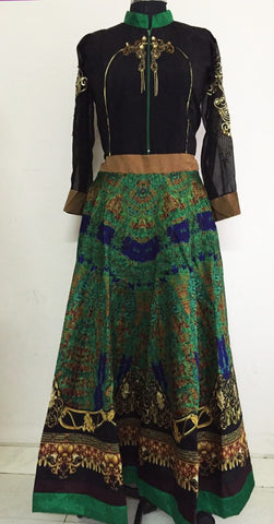 Gorgeous Bhagalpuri Bollywood Indo Western Gown ,Indian Dresses - 2
