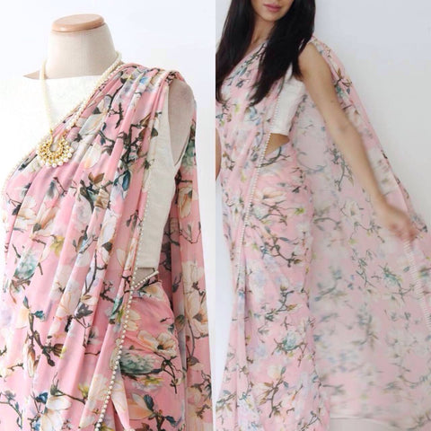 Floral Printed Pink Buy Bollywood Clothes Online