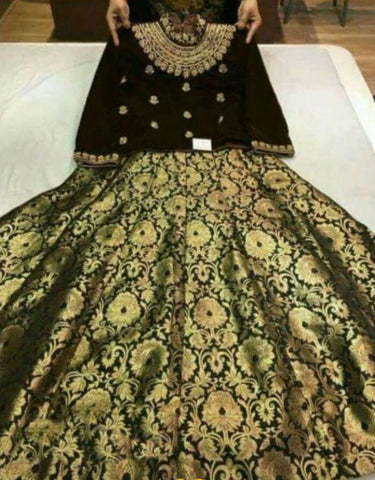 Buy Bollywood Brocade Lehenga Choli Online Shopping