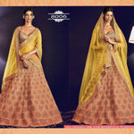 Peach Jaipuri Silk  Online Shopping For Wedding Lehengas