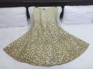 Bollywood Beige Net Indian Wedding Lehenga Designs