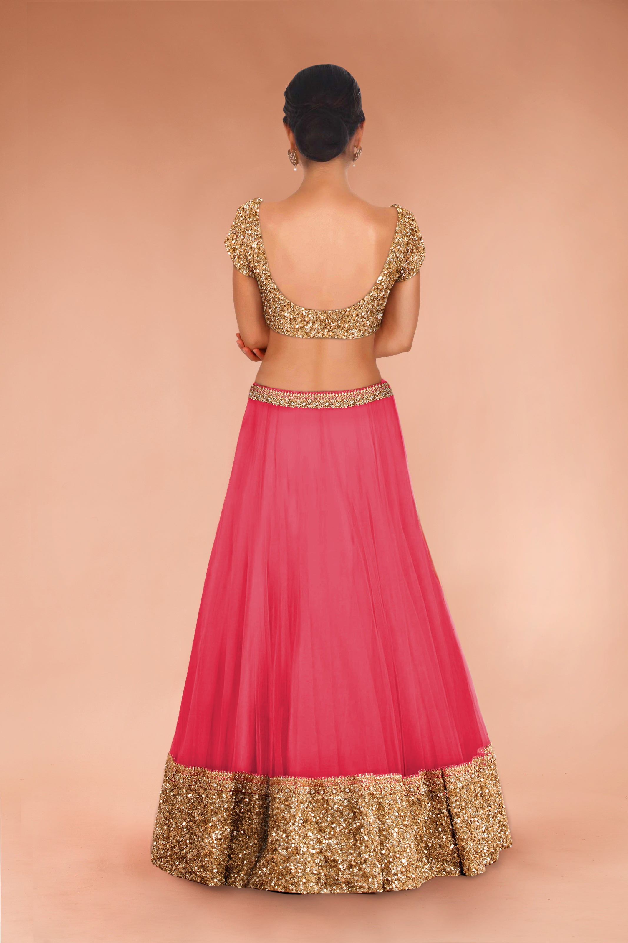 Bollywood Replica Pink Net Lehenga Choli Indian Price