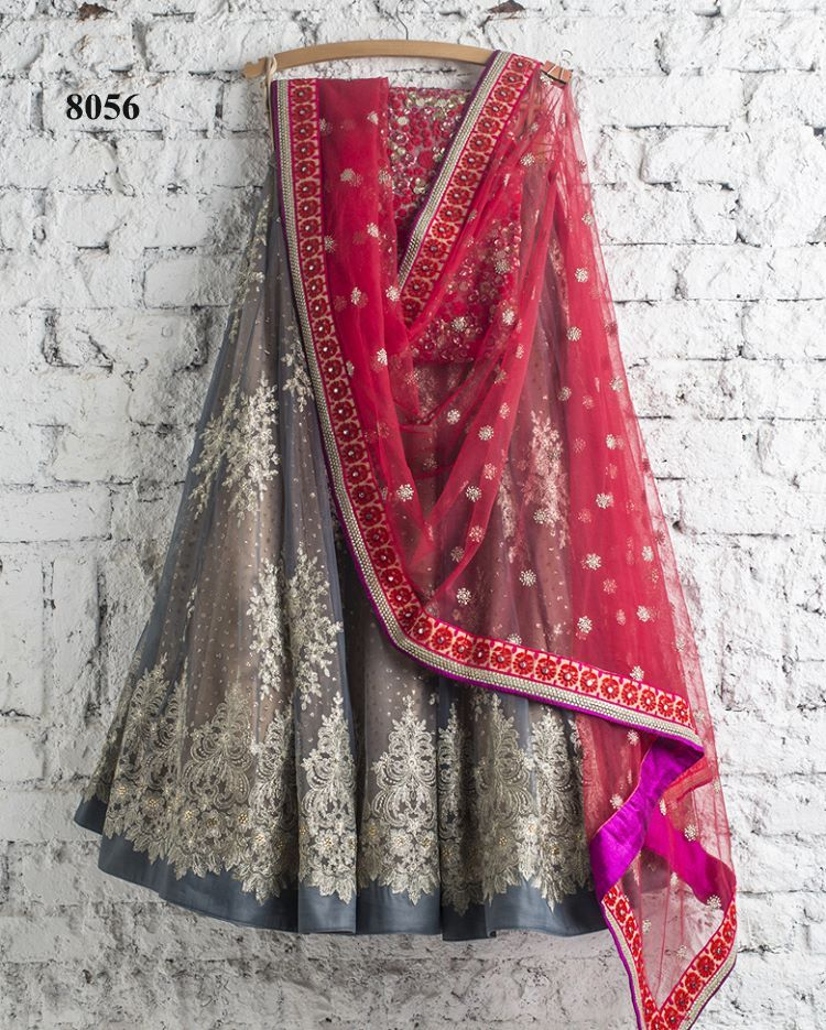 Gray Bollywood Ghagra Choli Designs With Price